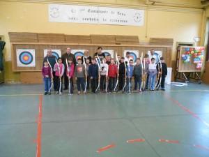 Les écoliers de Pasteur lors de la remise des diplômes du 03/04/15