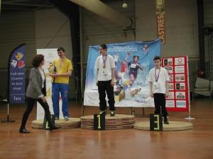 le podium des cadets 3e division